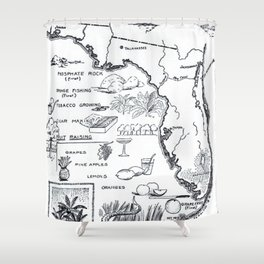 Vintage Map of Florida (1912) Shower Curtain