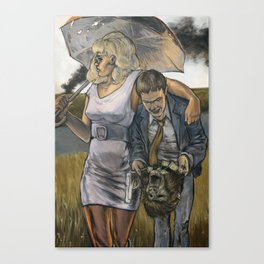 Bonnie & Clyde on the Other Side Canvas Print