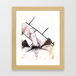 Meias Pretas Framed Art Print