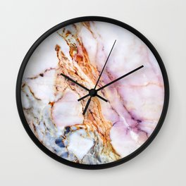 Pink marble detail Wall Clock