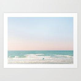 Surfing Tel Aviv No. 2 Art Print