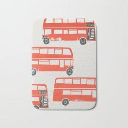 London Double Decker Red Bus Bath Mat