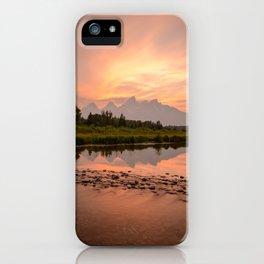 Tetons Summer Sunset Grand Teton National Park Wyoming Mountain Landscape iPhone Case