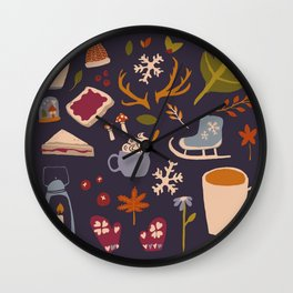 Winter Love Wall Clock
