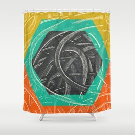 Junction - color hexagon Shower Curtain