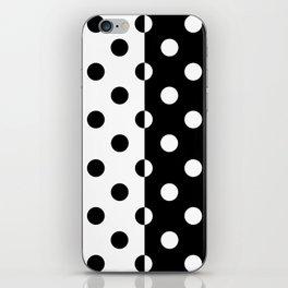 POLKADOTS (BLACK-WHITE) iPhone Skin