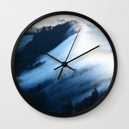 Jura Mountains Switzerland - Sea of Fog Wall Clock