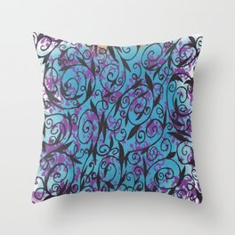 damask swirls Throw Pillow