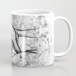 Hot Breakfast black&white - Erotic Art Illustration Nude Sex Sexual Love Lovers Relationship Couple Coffee Mug