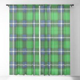 Scottish Tartan Blue and Green Sheer Curtain