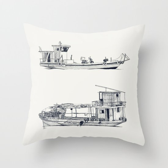On paper: Pity Pity II y Nueva Orquidea Throw Pillow