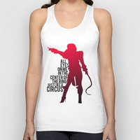 britney Tank Tops featuring Britney Circus by Tadeu Marques