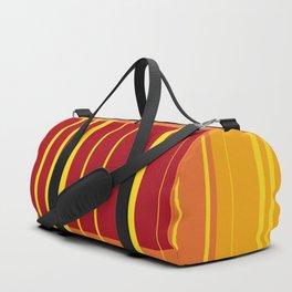 Red Orange Yellow Stripes Design Geometric Duffle Bag