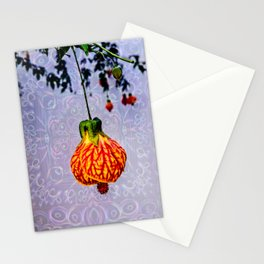 Stained glass and flower pendant Stationery Cards