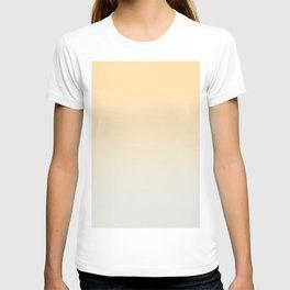 CREAM DREAM - Minimal Plain Soft Mood Color Blend Prints T-shirt