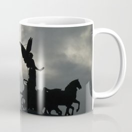 Roman angel and chariot at sunset 2 Coffee Mug