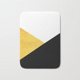 Gold & Black Geometry Bath Mat