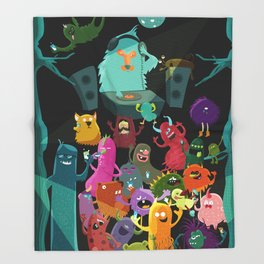 The mezcal monsters Throw Blanket