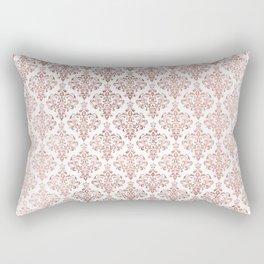 Elegant faux rose gold vintage floral damask Rectangular Pillow