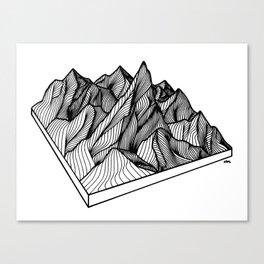 Peaking Through Canvas Print