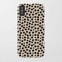 Irregular Small Polka Dots black iPhone Case