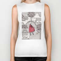 justin timberlake Biker Tanks featuring The Old Village by Judith Clay