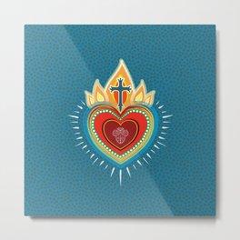Bright Sacred Heart Metal Print