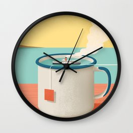 Cup of sea Wall Clock