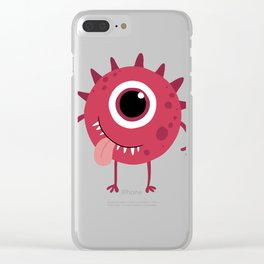 Red Monster Clear iPhone Case