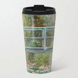 Monet, Water Lilies and Japanese Bridge, 1854 Travel Mug