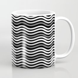 Black and White Graphic Metal Space Coffee Mug
