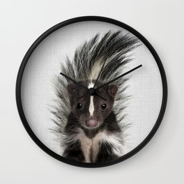 Skunk - Colorful Wall Clock