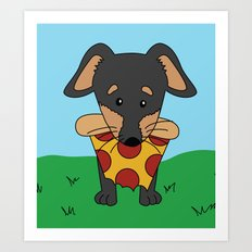 Paco Love Pizza Art Print
