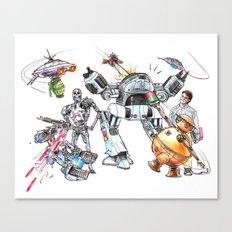 Bolts Vs. Bots Canvas Print