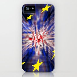 The exit from Great Britain iPhone Case