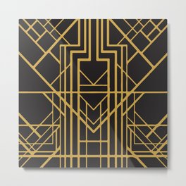 Art Deco Stand And Deliver Metal Print