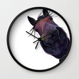 Happy Horse ' SLOE GIN GERRY ' by Shirley MacArthur Wall Clock
