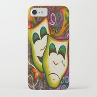 theatre iPhone & iPod Cases featuring Masks (Theatre) by Alexa Brooke Rutledge