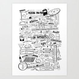 Pizzerias of Buenos Aires Art Print