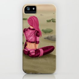Tragedy gazing upon the desert iPhone Case
