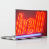 hell Laptop & iPad Skins featuring Hell by Nearlycanadian