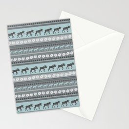 Moose Pattern Stationery Cards