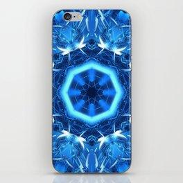Blue Chrome Mandala iPhone Skin