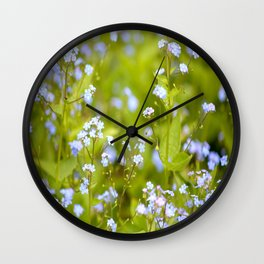 Forget-me-not Flowers In Nature #decor #society6 Wall Clock