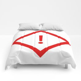 warning sign Comforters