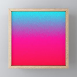 Blue purple and pink ombre flames Framed Mini Art Print