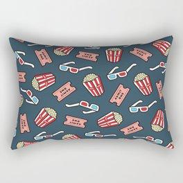 Movie Pattern in Dark Blue Rectangular Pillow