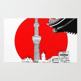 tokyo skytree red dot 1 Rug