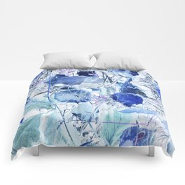 Blue leaves Comforters