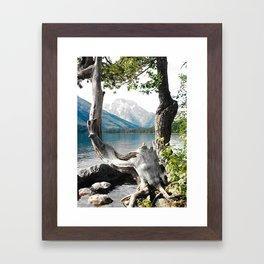 Tetons at Jackson Lake Wyoming Framed Art Print